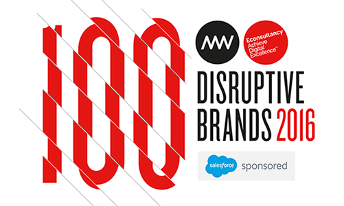100 disruptive brands of 2016
