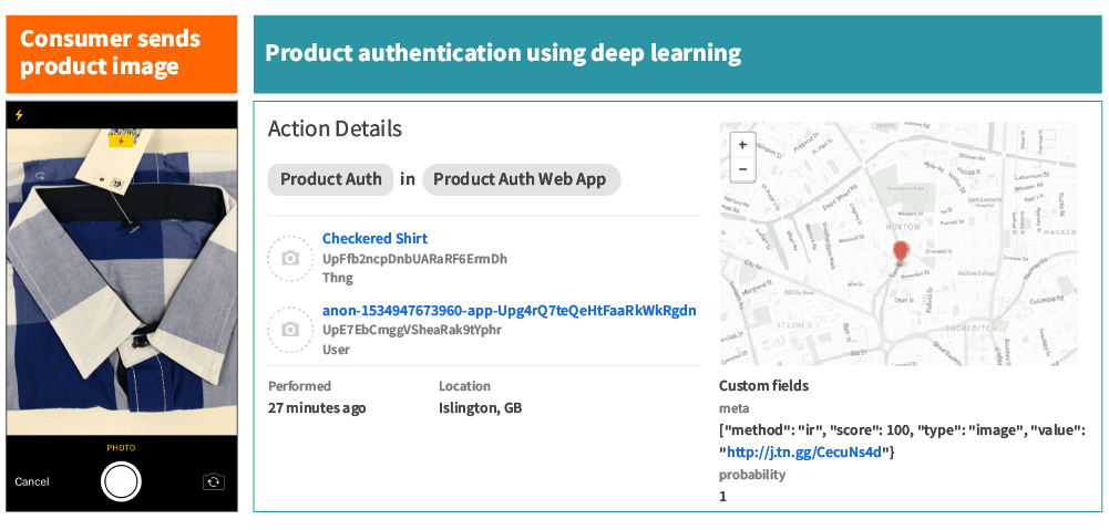 Machine learning product authentication