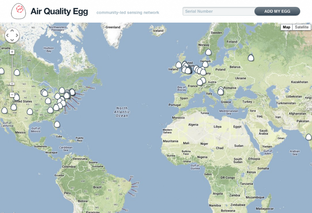 Air Quality Egg, IoT sustainability