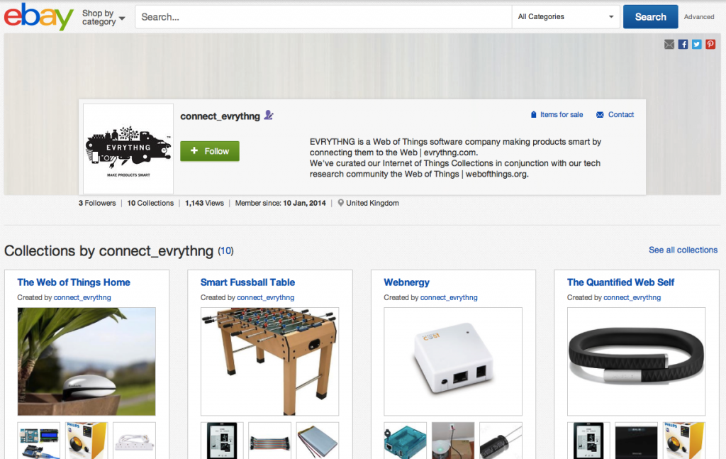 ebay collections, IoT